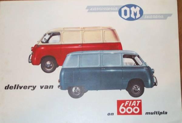 Sales Brocure for 600 Multipla OM Van
